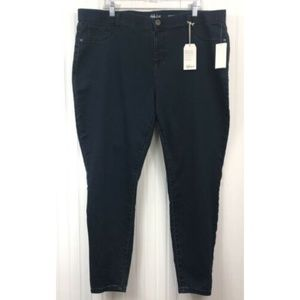 Style & Co. NWT 20W Pull On Skinny Jeans Dark Blue